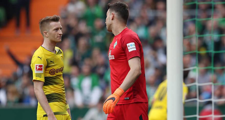 Дортмунд отдает должное голкиперу «Вердера». Послематчевые комментарии