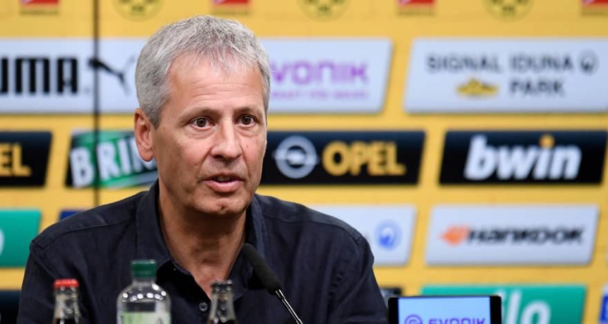Первая пресс-конференция Люсьена Фавра в качестве нового главного тренера «Боруссии»