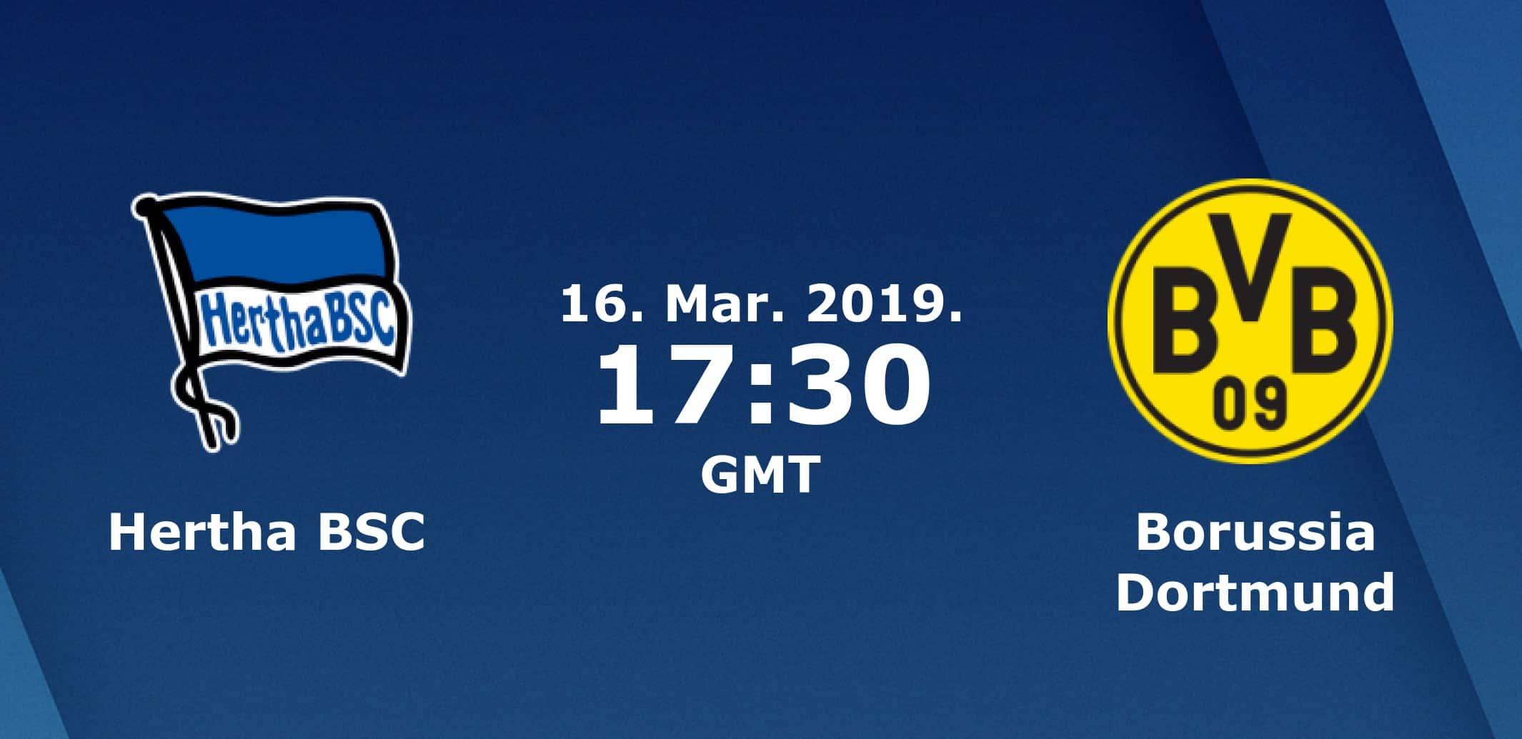 «Герта» — «Боруссия» 16.03.2019. Перед матчем.