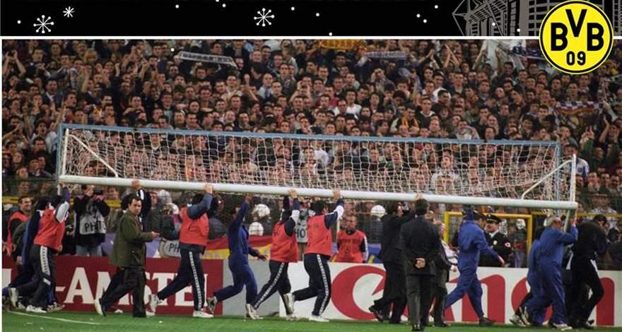 «Боруссия» (Дортмунд). Календарь событий: Телевизионная история об упавших воротах в Мадриде.