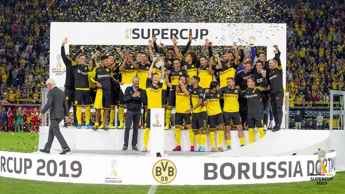 «Боруссия» Дортмунд — обладатель Суперкубка Германии 2019 года! 03.08.2019. После матча.