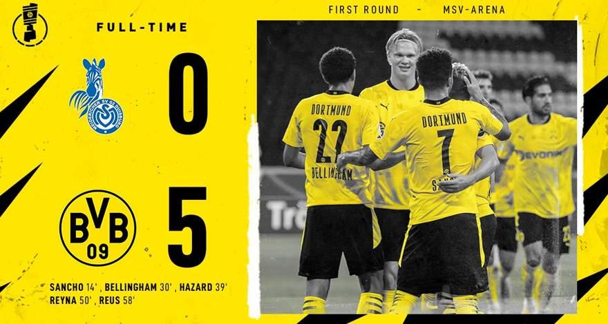 «Боруссия» разгромила «Дуйсбург» в первом раунде Кубка Германии (14.09.2020).