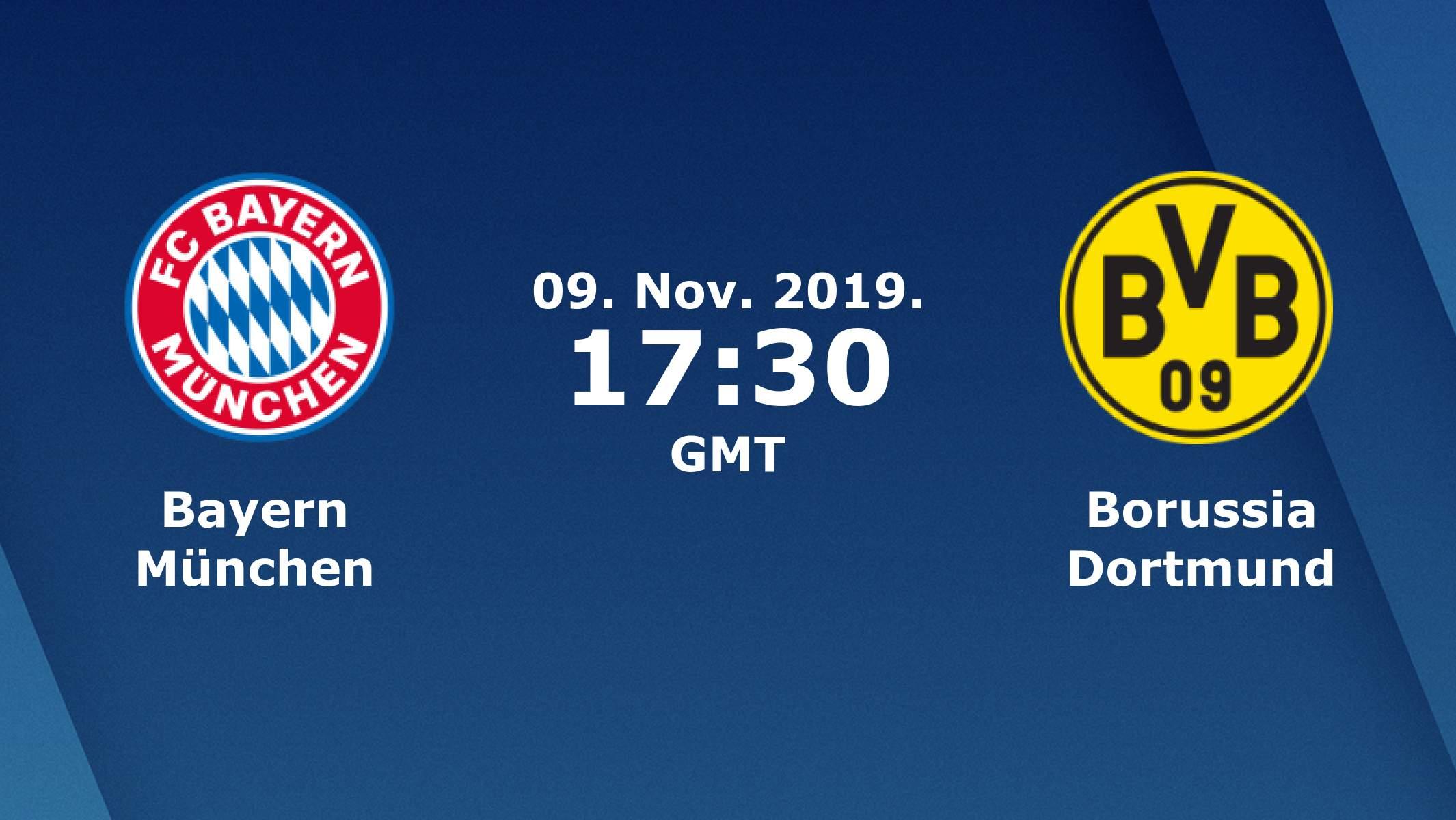 Бундеслига (11 тур): «Бавария» Мюнхен — «Боруссия» Дортмунд. 09.11.2019. Перед матчем.