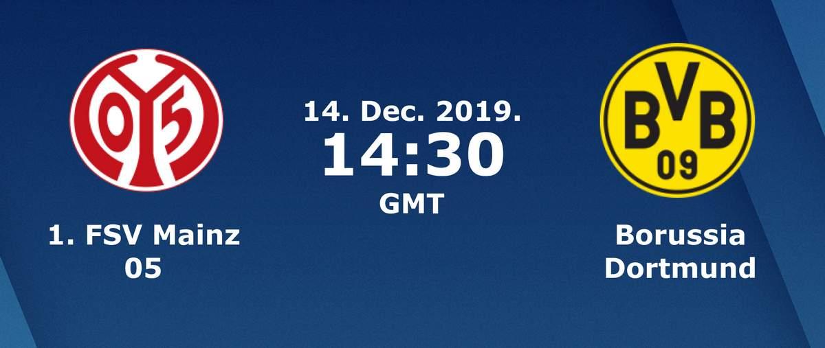 Бундеслига (15 тур): «Майнц» Майнц — «Боруссия» Дортмунд. 14.12.2019. Перед матчем.
