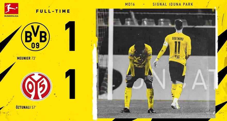Бундеслига (16-й тур): «Боруссия» Дортмунд — «Майнц». Ничья в Дортмунде. Ройс не реализовал пенальти.