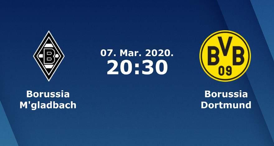 Бундеслига (25 тур): «Боруссия» Менхенгладбах — «Боруссия» Дортмунд. 07.03.2020. Перед матчем.