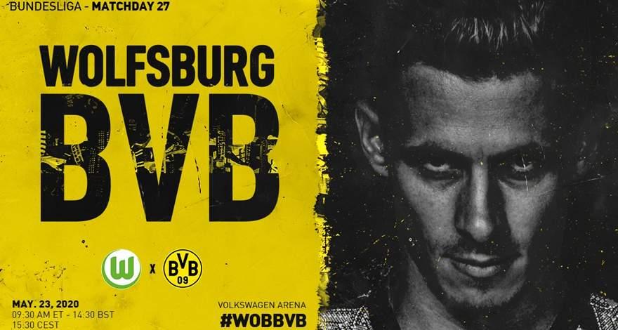 Бундеслига (27 тур): «Вольфсбург» Вольфсбург — «Боруссия» Дортмунд. 23.05.2020. После матча.