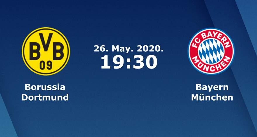 Бундеслига (28 тур): «Боруссия» Дортмунд — «Бавария» Мюнхен. 26.05.2020. Перед матчем.
