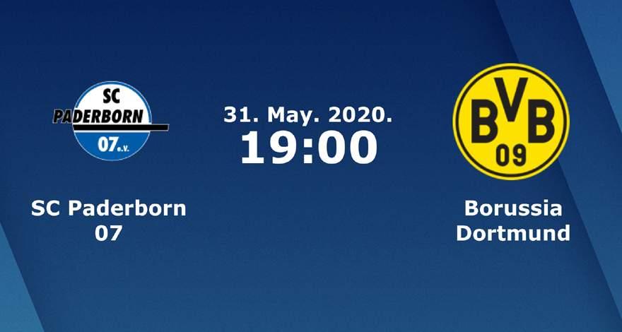Бундеслига (29 тур): «Падерборн» Падерборн — «Боруссия» Дортмунд. 31.05.2020. Перед матчем.