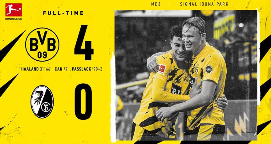 Бундеслига (3 тур): крупная победа «Боруссии» над «Фрайбургом»…