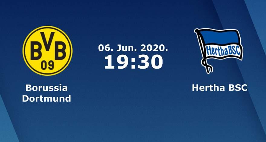Бундеслига (30 тур): «Боруссия» Дортмунд — «Герта» Берлин. 06.06.2020. Перед матчем.