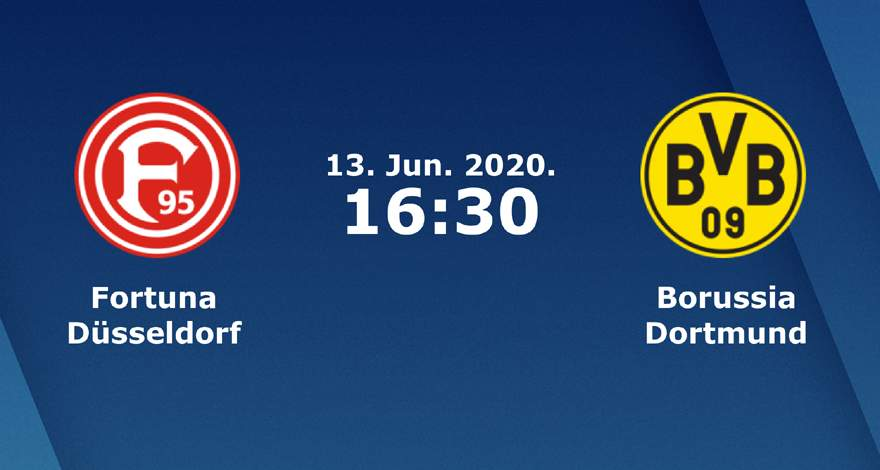 Бундеслига (31 тур): «Фортуна» Дюссельдорф — «Боруссия» Дортмунд. 13.06.2020. Перед матчем.