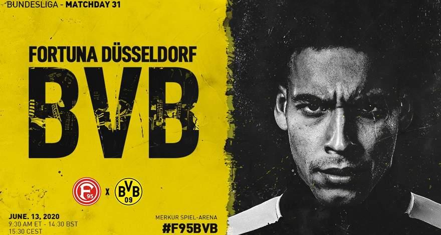 Бундеслига (31 тур): «Фортуна» Дюссельдорф — «Боруссия» Дортмунд. 13.06.2020. После матча.