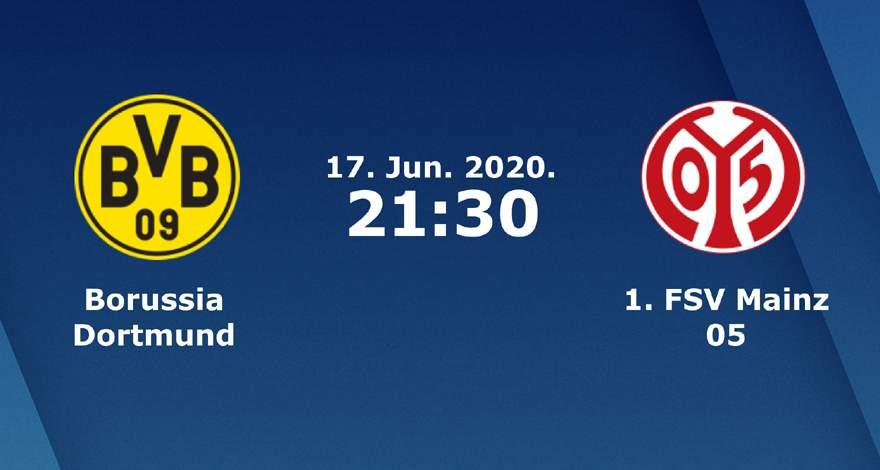 Бундеслига (32 тур): «Боруссия» Дортмунд — «Майнц» Майнц. 17.06.2020. Перед матчем.