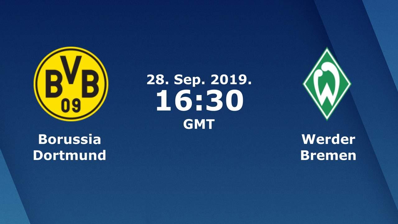 Бундеслига (6 тур): «Боруссия» Дортмунд — «Вердер» Бремен. 28.09.2019. Перед матчем.
