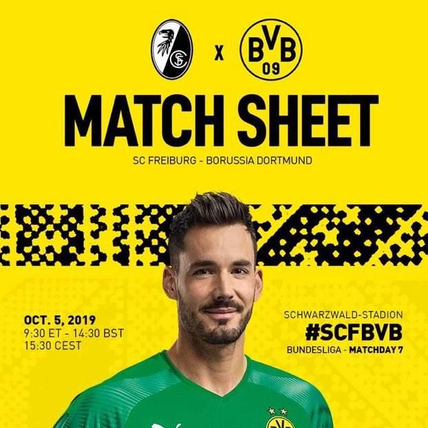 Бундеслига (7 тур): «Фрайбург» Фрайбург-им-Брайсгау — «Боруссия» Дортмунд. 05.10.2019. Перед матчем.