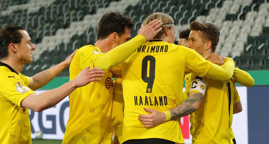Кубок Германии (1/4 финала): «Боруссия» Менхенгладбах - «Боруссия» Дортмунд. После матча.