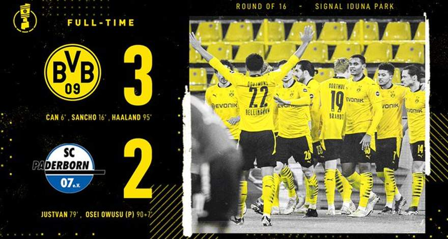 Кубок Германии (1/8 финала): «Боруссия» Дортмунд - «Падерборн». Трудная победа в дополнительное время.