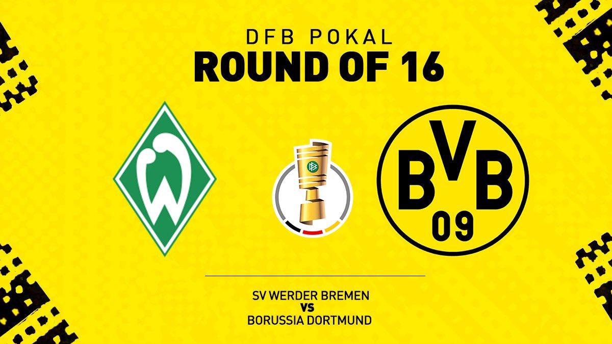 Кубок Германии (3 раунд): «Вердер» Бремен — «Боруссия» Дортмунд. 04.02.2020. Перед матчем.