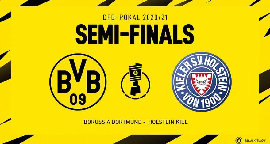 Кубок Германии (полуфинал): «Боруссия» Дортмунд - «Хольштайн Киль» Киль. Перед матчем.