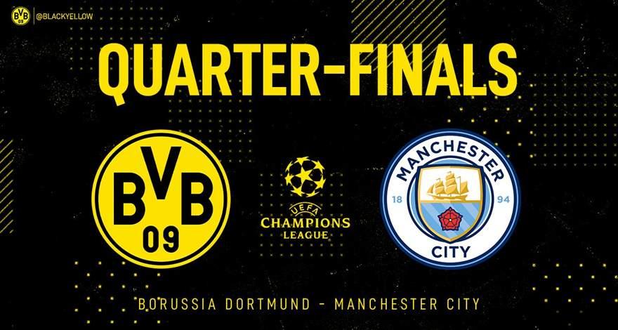 Лига Чемпионов (1/4 финала, 2-й матч): «Боруссия» (Дортмунд, Германия) — «Манчестер Сити» (Манчестер, Англия). Перед матчем.