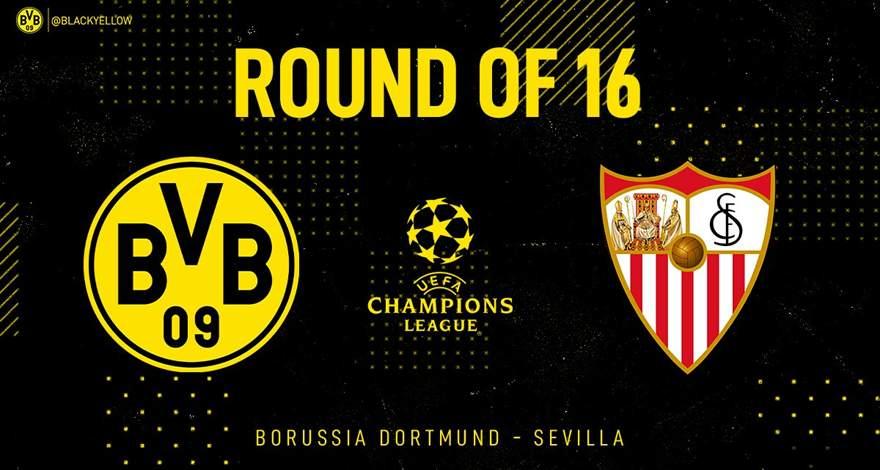 Лига Чемпионов (1/8 финала): «Боруссия» Дортмунд, Германия - «Севилья» Севилья, Испания. Перед ответным матчем.