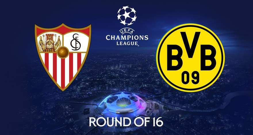 Лига Чемпионов (1/8 финала): «Севилья» Севилья, Испания - «Боруссия» Дортмунд, Германия. Перед матчем.