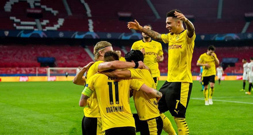 Лига Чемпионов (1/8 финала): «Севилья» Севилья, Испания - «Боруссия» Дортмунд, Германия. После матча.