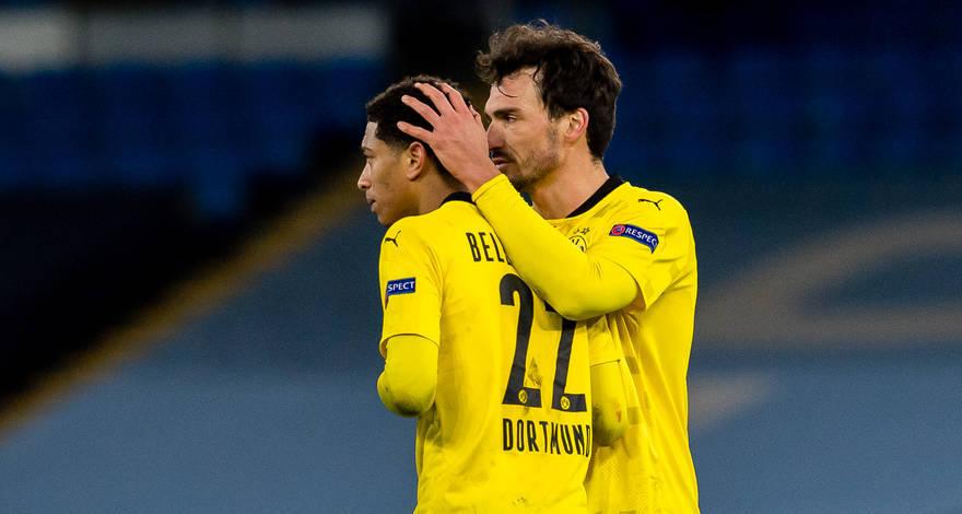 Лига Чемпионов (четвертьфинал): «Манчестер Сити» (Манчестер, Англия) — «Боруссия» (Дортмунд, Германия). После матча. Всё решится в ответной игре.