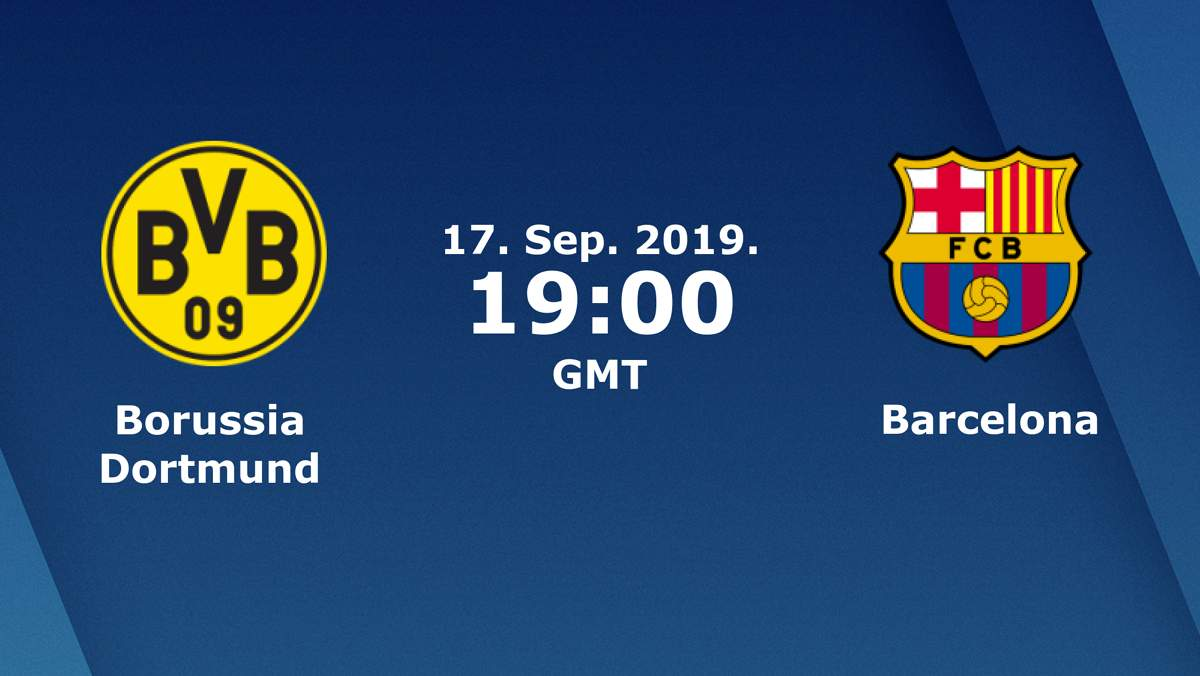 Лига Чемпионов. Группа F (1 тур): «Боруссия» Дортмунд — «Барселона» Барселона, Испания. 17.09.2019. Перед матчем.