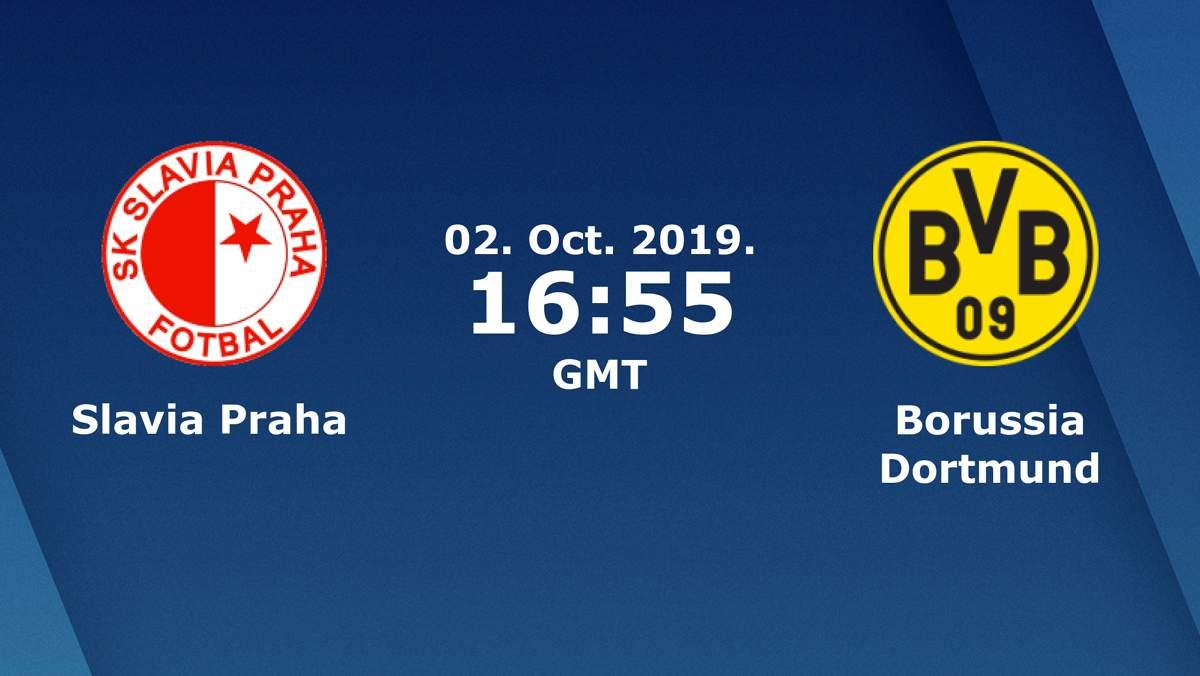 Лига Чемпионов. Группа F (2 тур): «Славия» Прага, Чехия — «Боруссия» Дортмунд. 02.10.2019. Перед матчем.