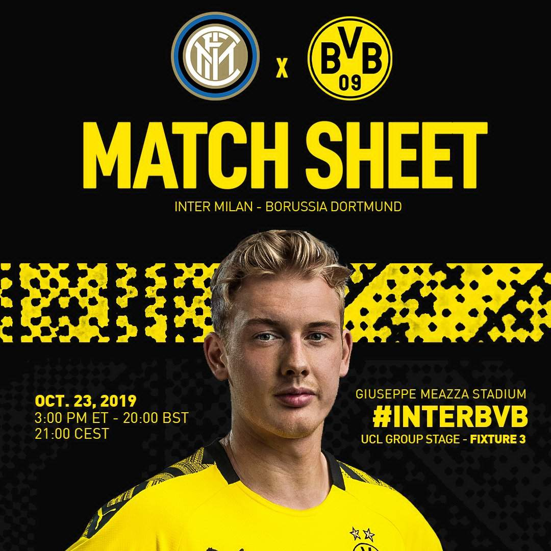 Лига Чемпионов. Группа F (3 тур): «Интер» Милан, Италия — «Боруссия» Дортмунд. 23.10.2019. Перед матчем.