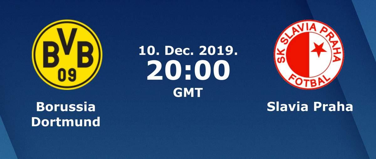 Лига Чемпионов. Группа F (6 тур): «Боруссия» Дортмунд — «Славия» Прага, Чехия. 10.12.2019. Перед матчем.