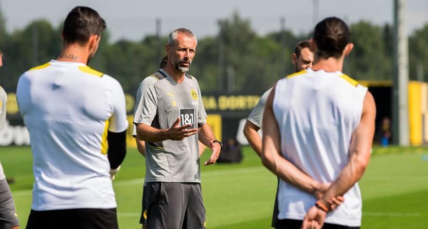 Первая тренировка Марко Розе в «Боруссии»: Бюрки в центре внимания, долгий разговор с Шульцем, Холанд присоединится к команде позже.